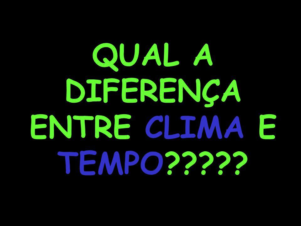 QUAL A DIFERENÇA ENTRE CLIMA E TEMPO