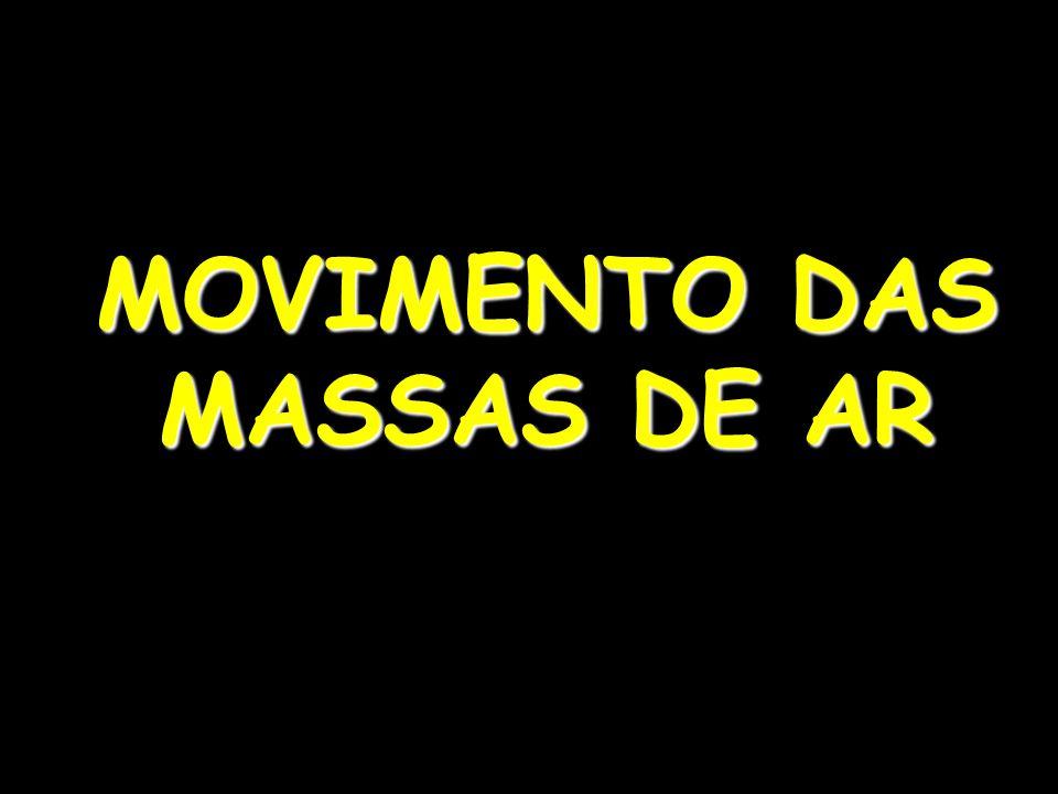 MOVIMENTO DAS MASSAS DE AR
