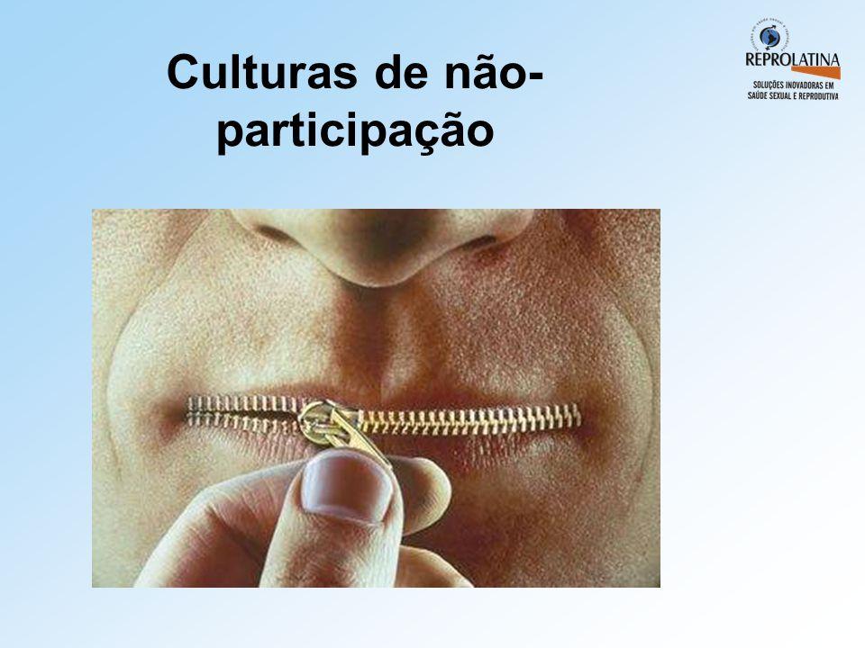 Culturas de não-participação