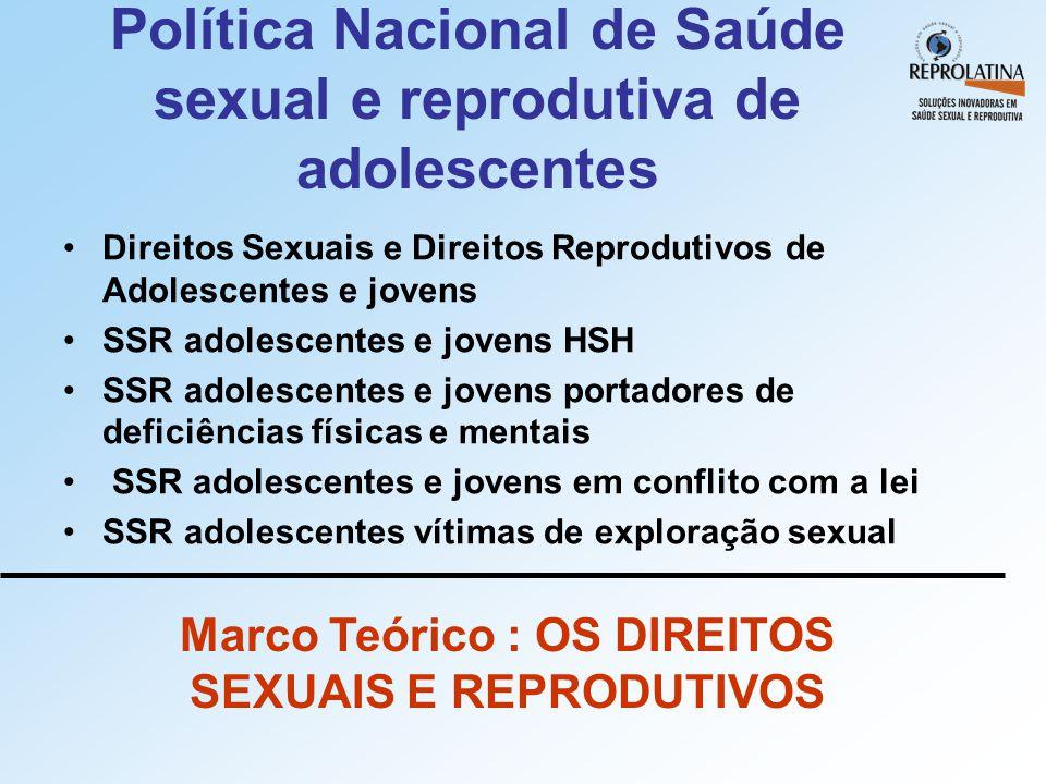 Política Nacional de Saúde sexual e reprodutiva de adolescentes
