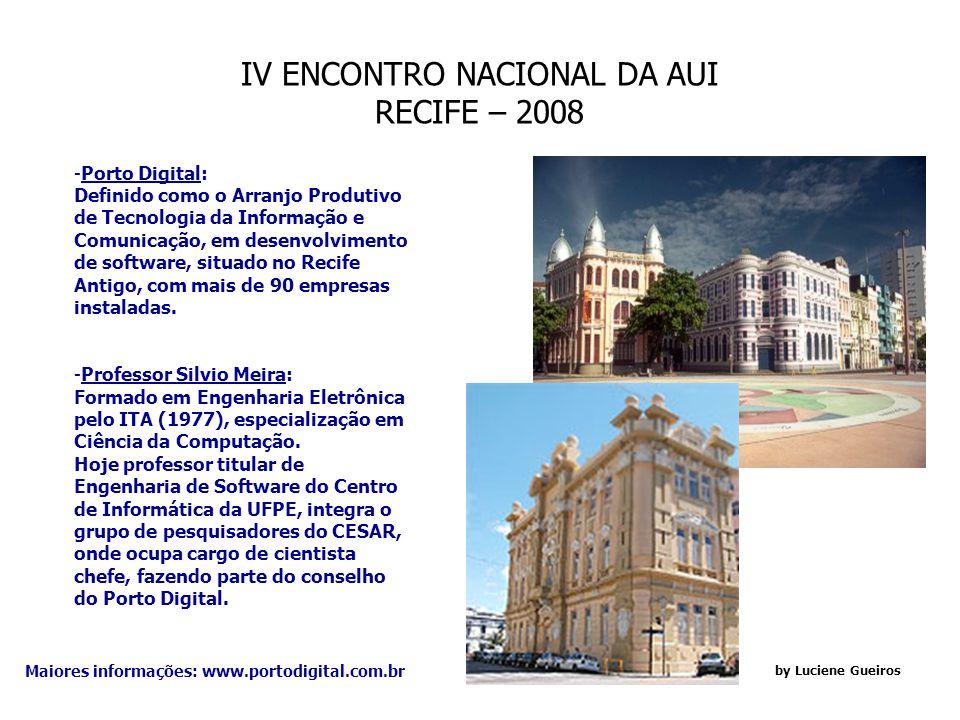 IV ENCONTRO NACIONAL DA AUI RECIFE – 2008