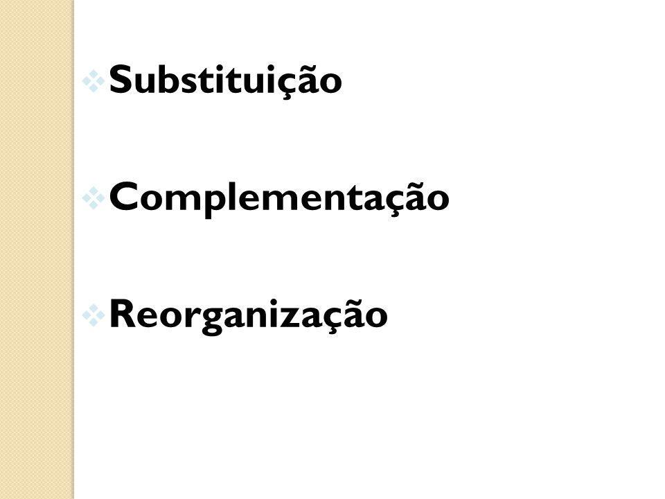Substituição Complementação Reorganizaçãoo