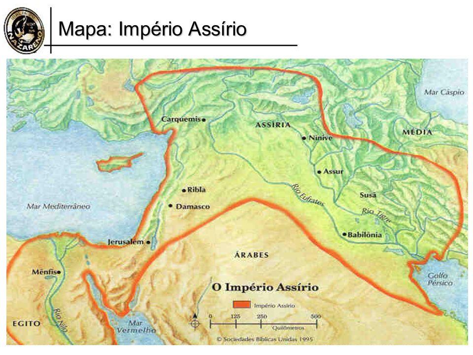 Mapa: Império Assírio