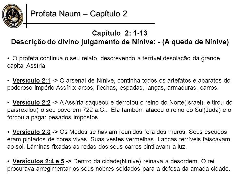 Descrição do divino julgamento de Nínive: - (A queda de Nínive)