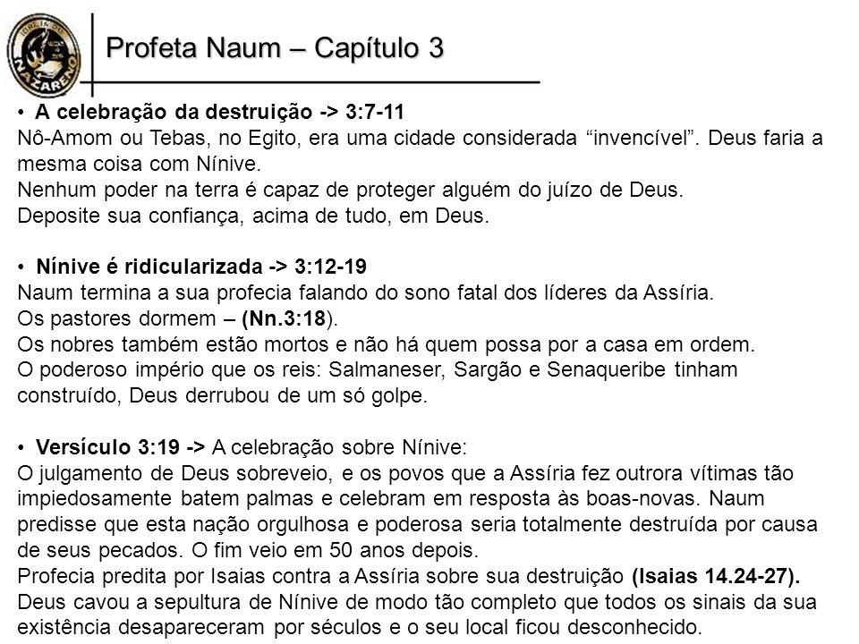 Profeta Naum – Capítulo 3