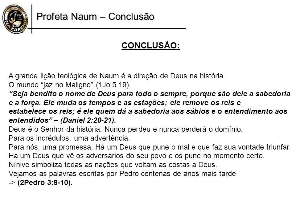 Profeta Naum – Conclusão