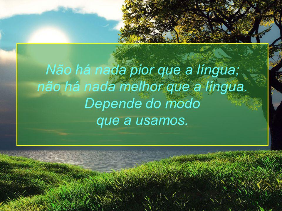 Não há nada pior que a língua; não há nada melhor que a língua