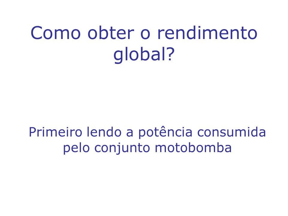 Como obter o rendimento global