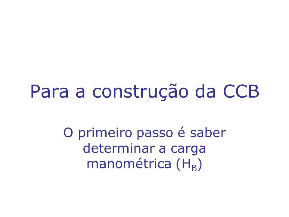 Para a construção da CCB