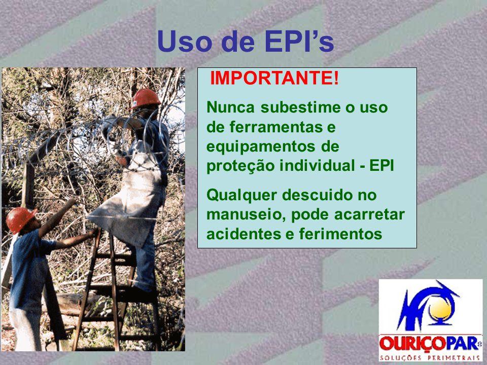 Uso de EPI's IMPORTANTE!