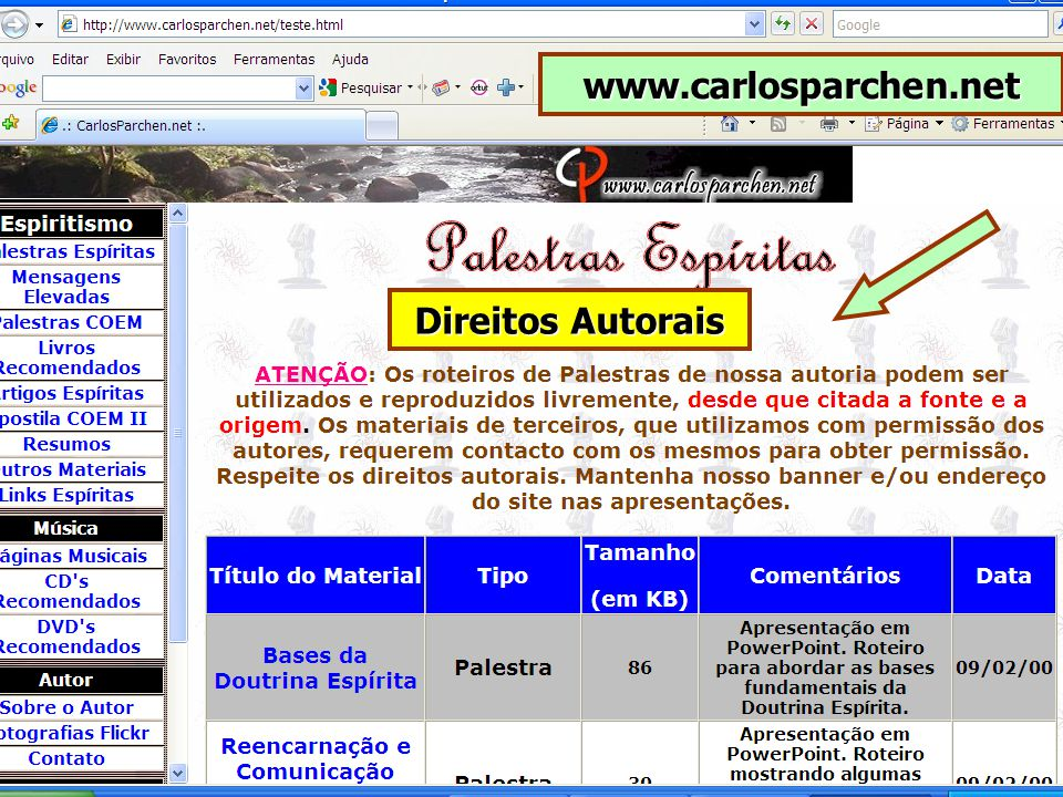 www.carlosparchen.net Direitos Autorais
