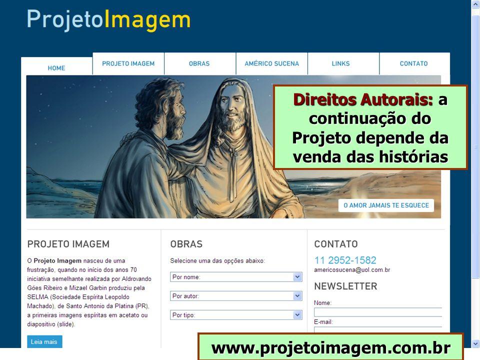 Direitos Autorais: a continuação do Projeto depende da venda das histórias