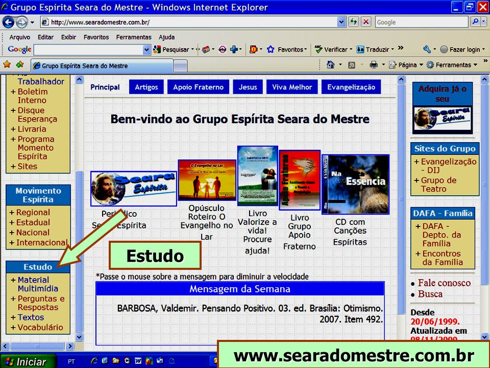 Estudo www.searadomestre.com.br