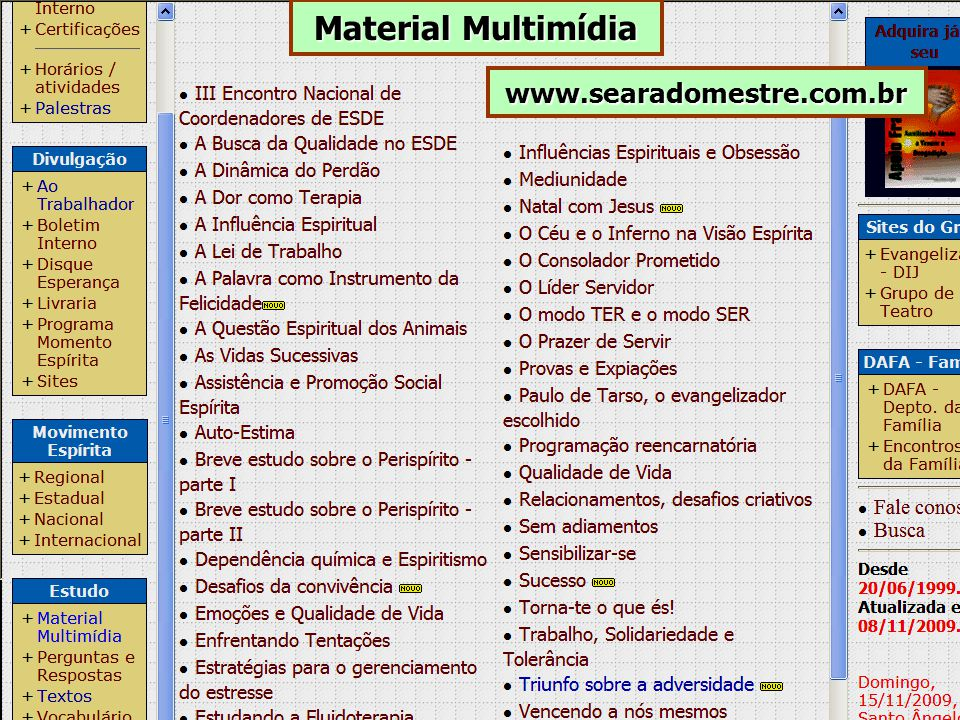 Material Multimídia www.searadomestre.com.br