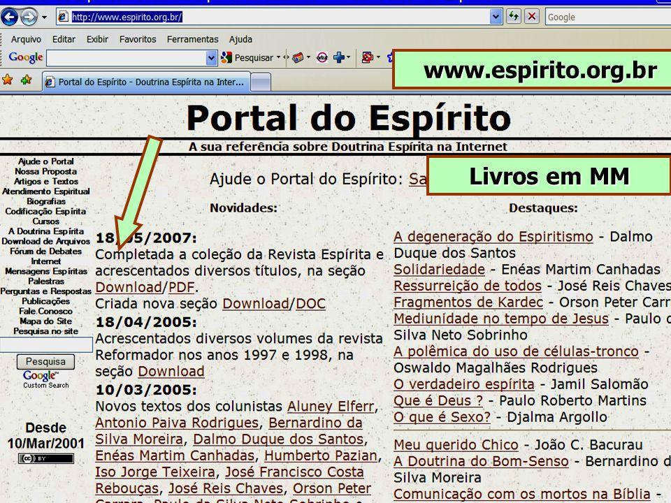 www.espirito.org.br Livros em MM