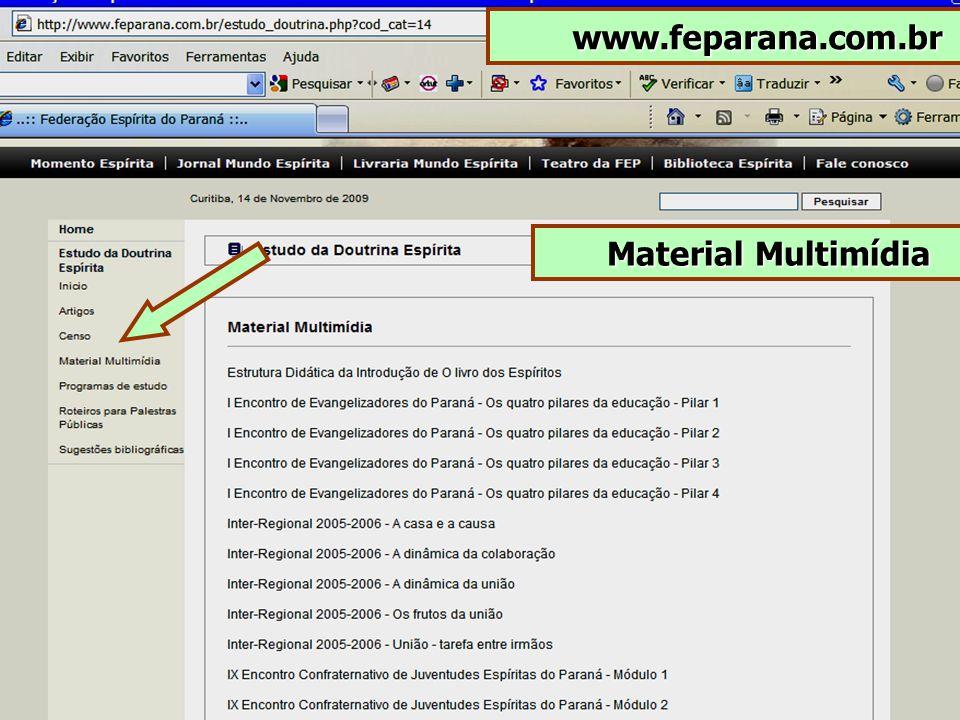 www.feparana.com.br Material Multimídia