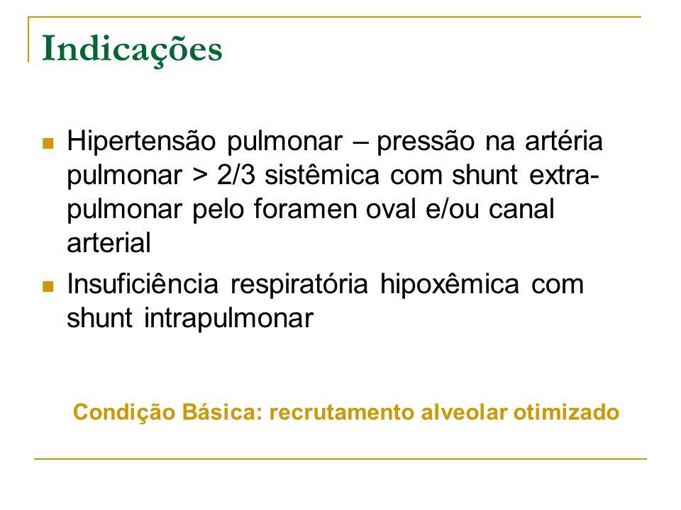 Condição Básica: recrutamento alveolar otimizado