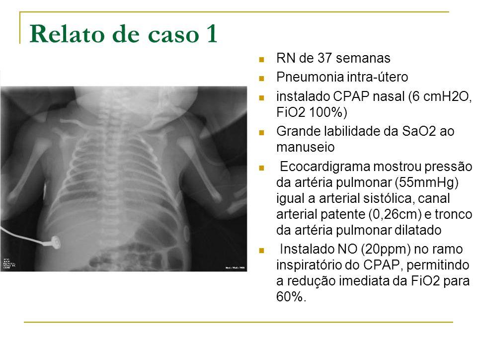 Relato de caso 1 RN de 37 semanas Pneumonia intra-útero