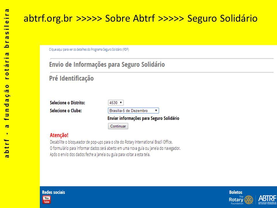 abtrf.org.br >>>>> Sobre Abtrf >>>>> Seguro Solidário