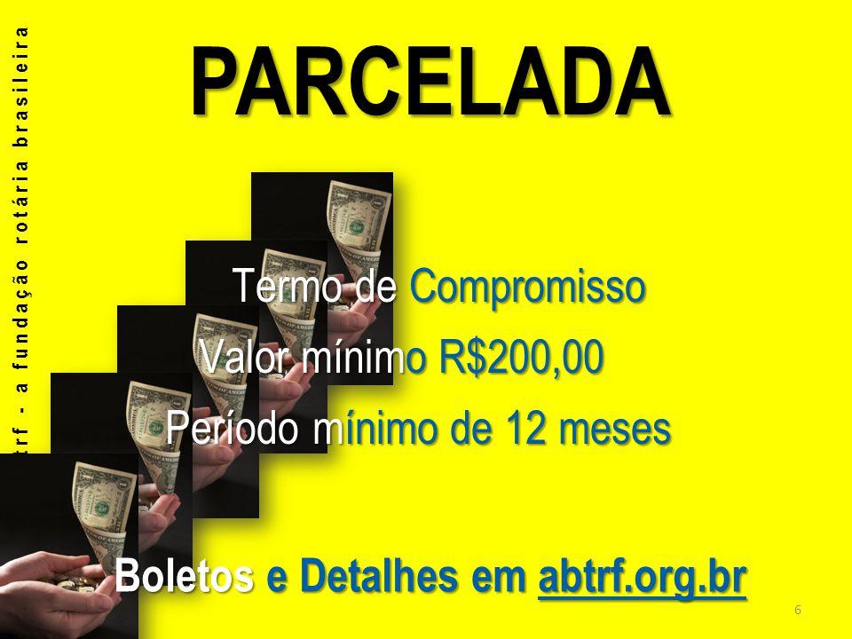 Boletos e Detalhes em abtrf.org.br