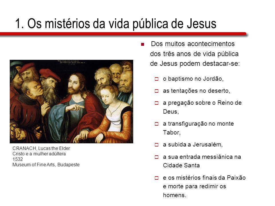 1. Os mistérios da vida pública de Jesus