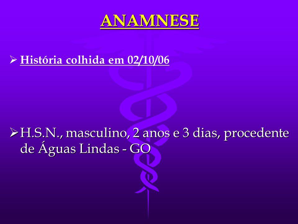 ANAMNESE História colhida em 02/10/06.