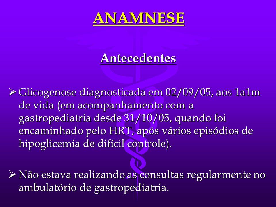 ANAMNESE Antecedentes