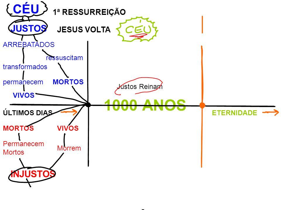 1000 ANOS CÉU JUSTOS INJUSTOS 1ª RESSURREIÇÃO JESUS VOLTA ARREBATADOS