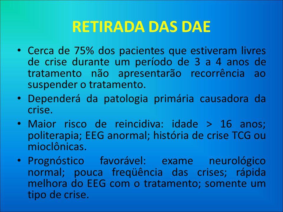 RETIRADA DAS DAE