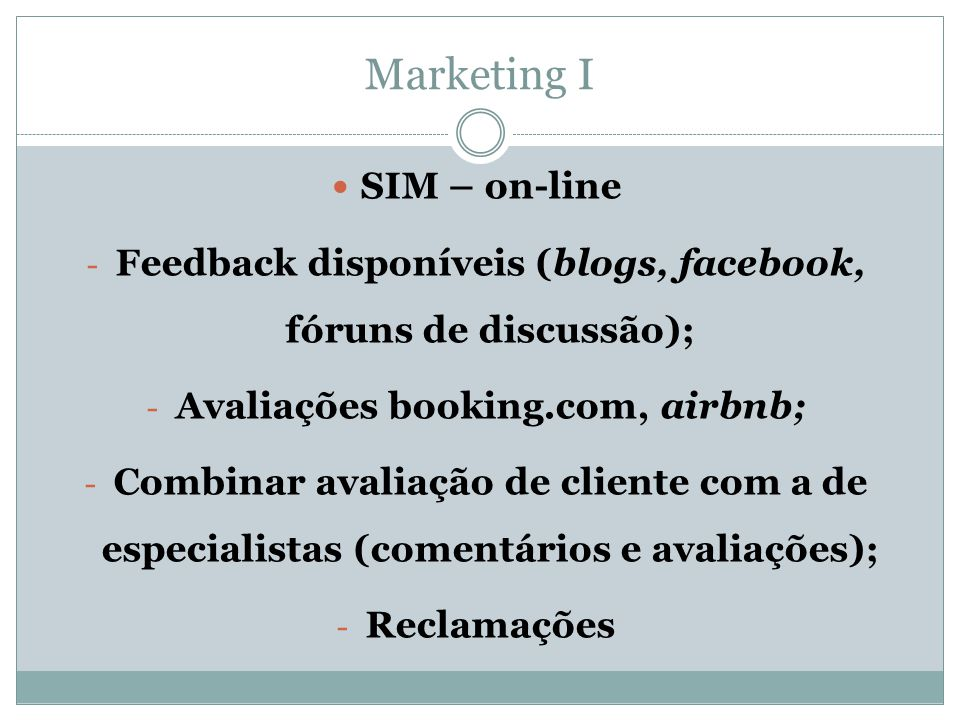 Marketing I SIM – on-line