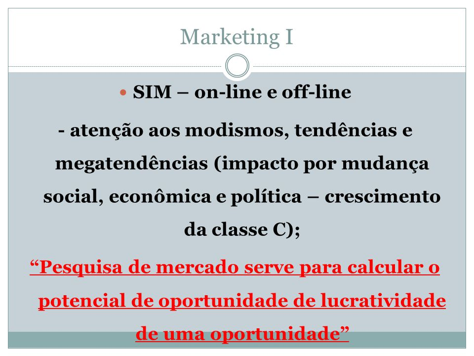 SIM – on-line e off-line