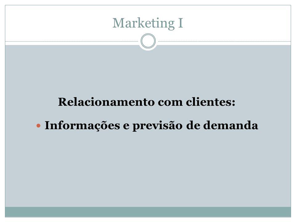 Relacionamento com clientes: Informações e previsão de demanda