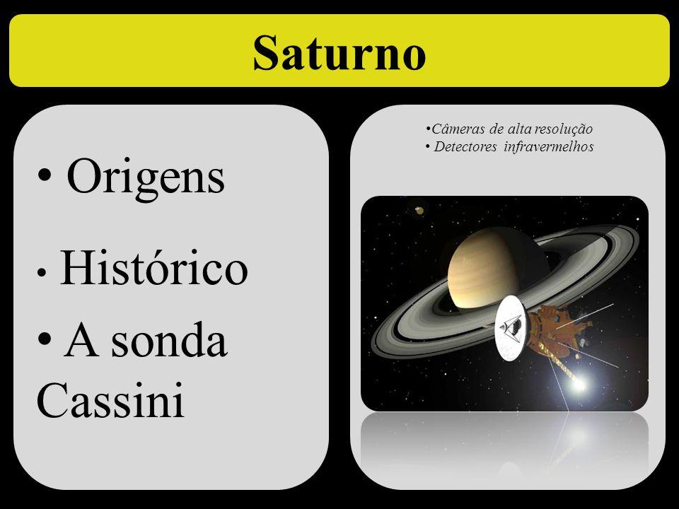 Saturno Origens A sonda Cassini Histórico Câmeras de alta resolução