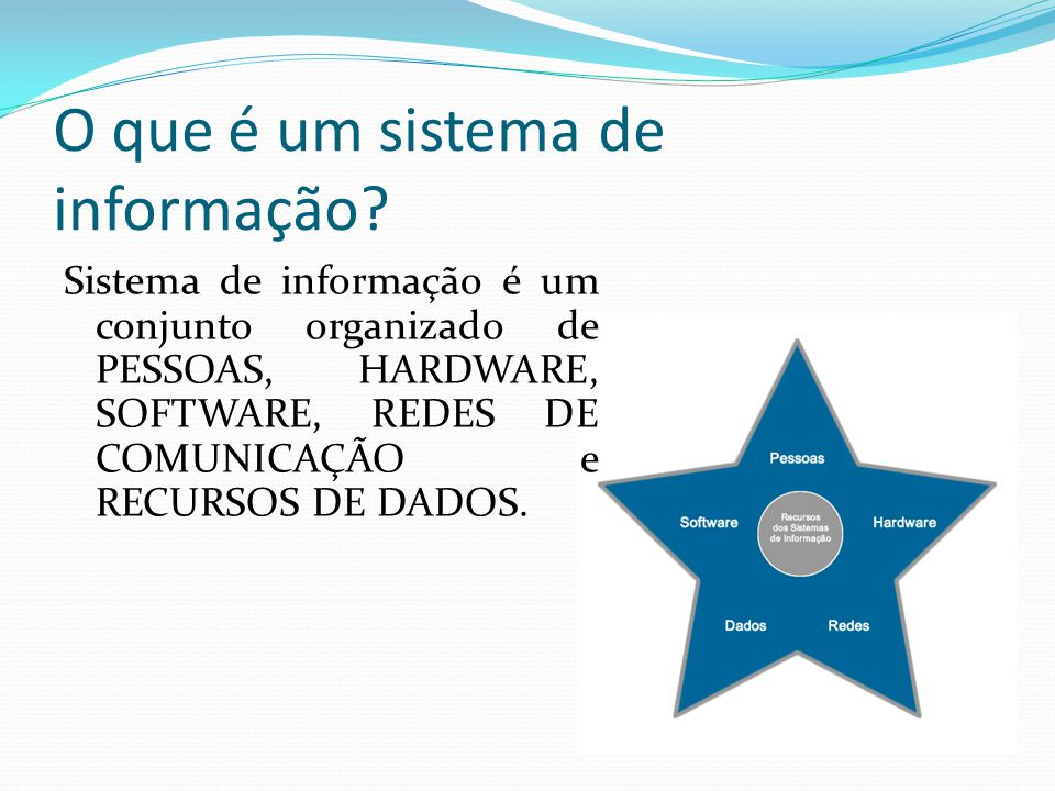 O que é um sistema de informação
