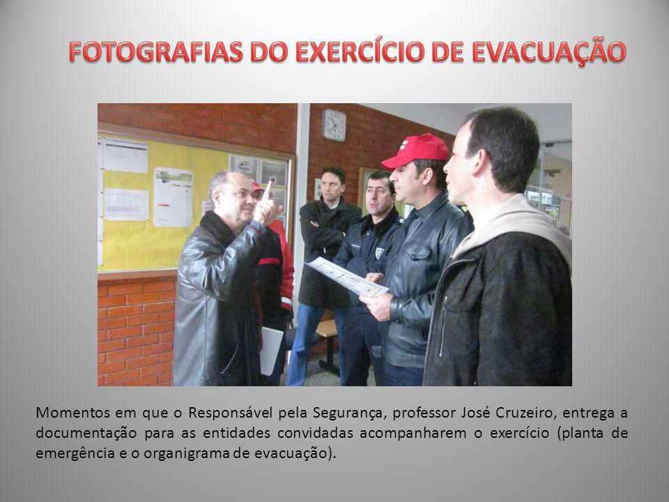 FOTOGRAFIAS DO EXERCÍCIO DE EVACUAÇÃO