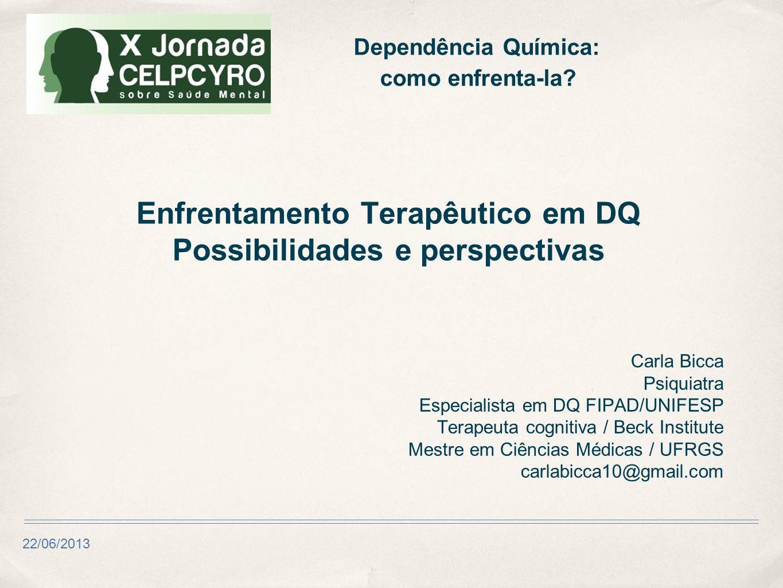 Enfrentamento Terapêutico em DQ Possibilidades e perspectivas