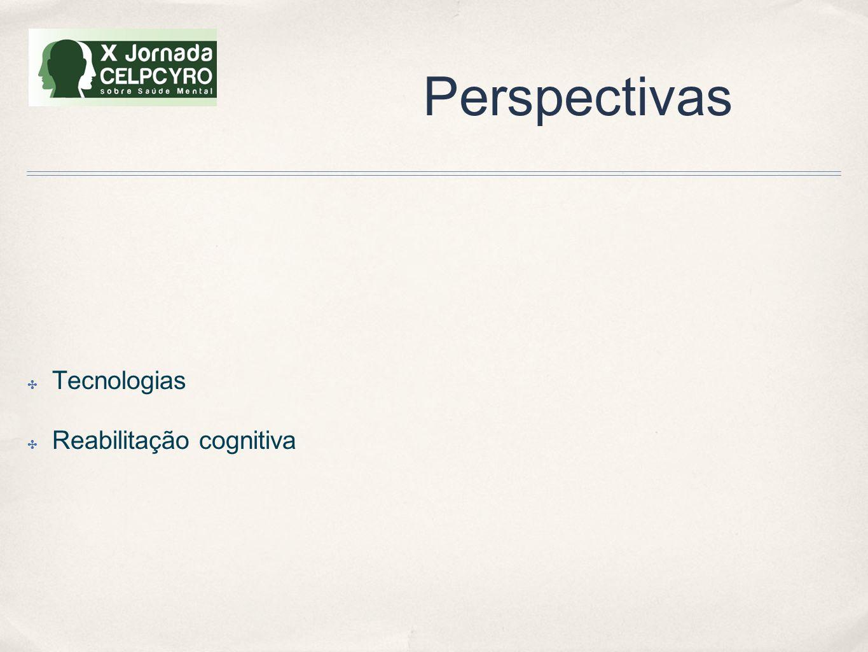 Perspectivas Tecnologias Reabilitação cognitiva