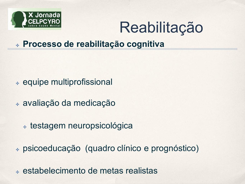 Reabilitação Processo de reabilitação cognitiva