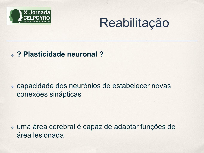 Reabilitação Plasticidade neuronal