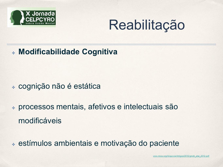 Reabilitação Modificabilidade Cognitiva cognição não é estática