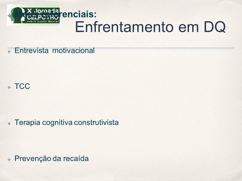 Enfrentamento em DQ Meus referenciais: Entrevista motivacional TCC