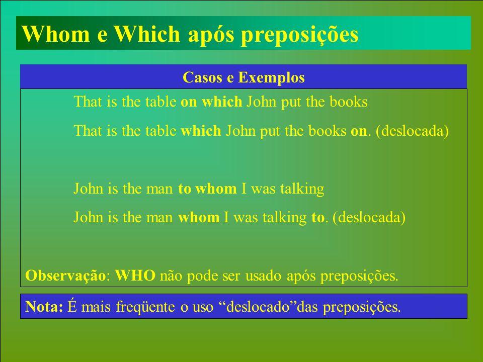 Whom e Which após preposições