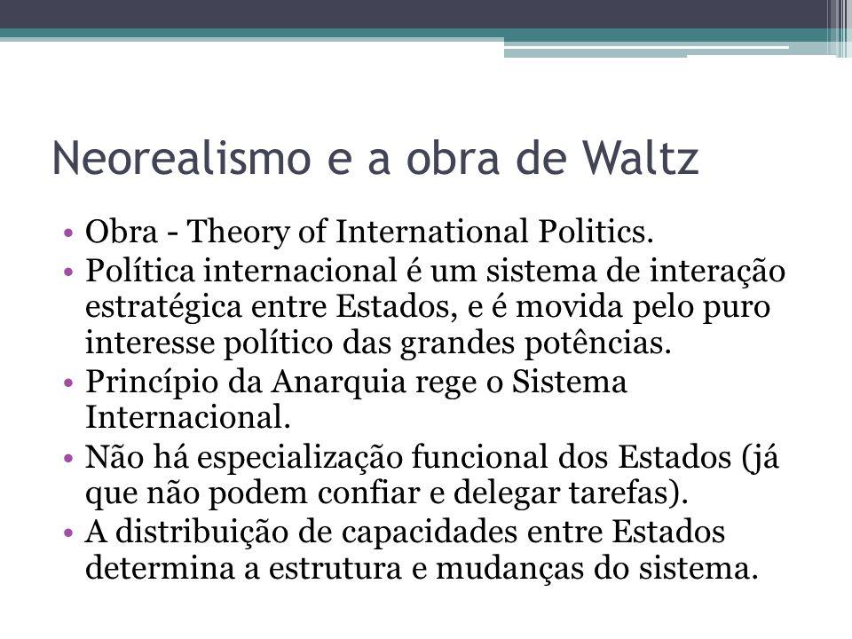 Neorealismo e a obra de Waltz