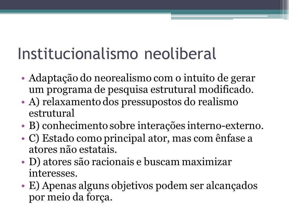Institucionalismo neoliberal