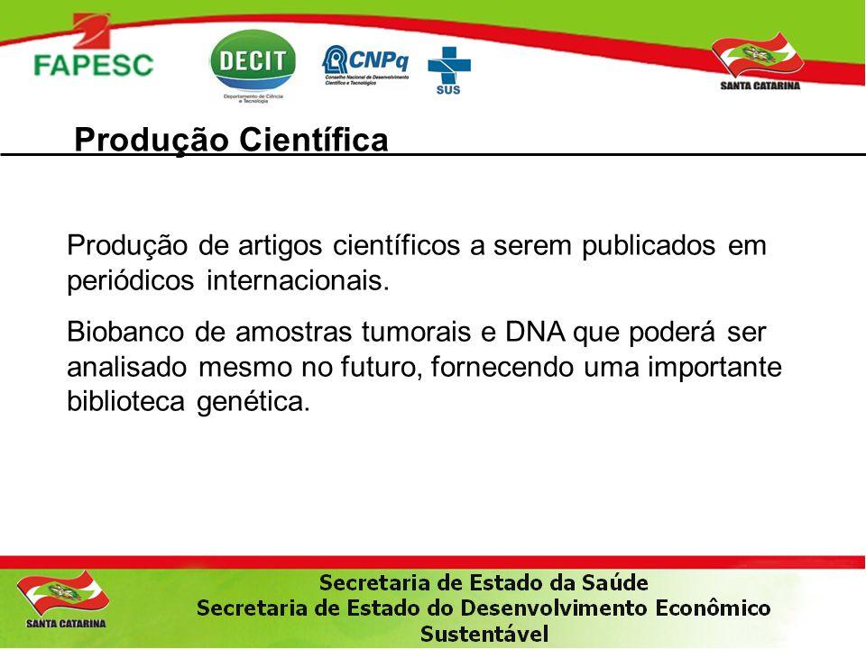 Produção Científica Produção de artigos científicos a serem publicados em periódicos internacionais.