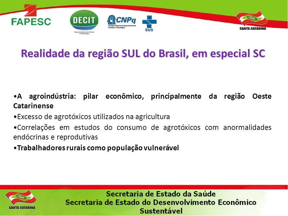 Realidade da região SUL do Brasil, em especial SC