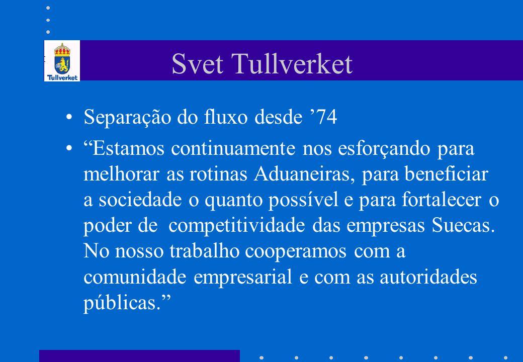 Svet Tullverket Separação do fluxo desde '74