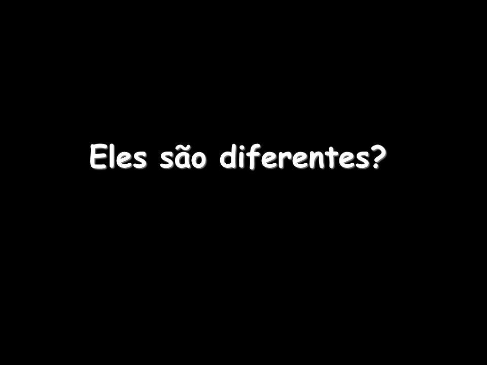 Eles são diferentes