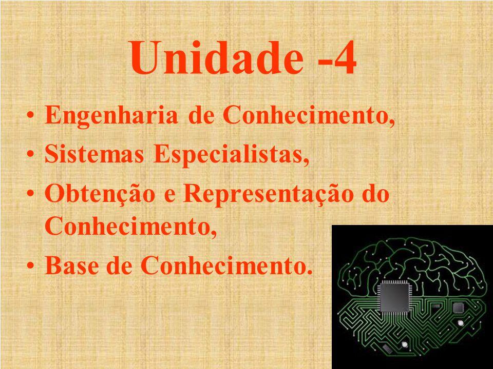 Unidade -4 Engenharia de Conhecimento, Sistemas Especialistas,
