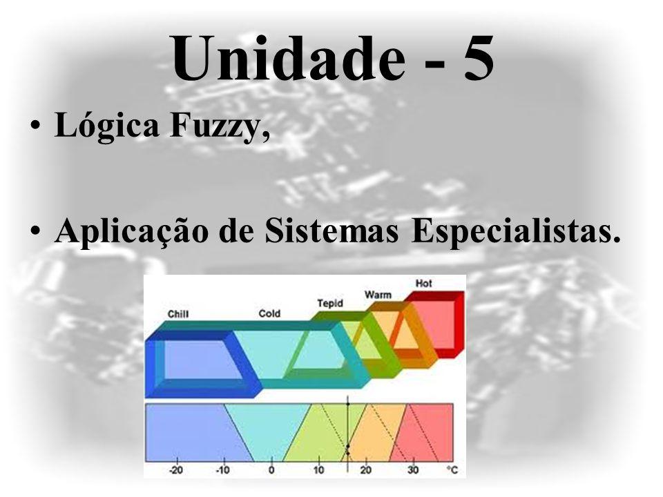 Unidade - 5 Lógica Fuzzy, Aplicação de Sistemas Especialistas.